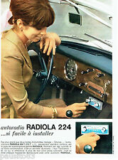 PUBLICITE ADVERTISING 056  1964  Radiola  auto radio 224