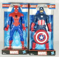 """Marvel Spider-Man & Captain America 9.5"""" Action Figures Set Lot - Free Shipping!"""