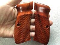 Cool  Grip For CZ-75/85 FULL SIZE GRIP, Haft checkered Hard wood thai handmade