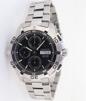 .Auth Tag Heuer Aquaracer Automatic Chronograph 300m Men's Watch CAF2010 +Papers