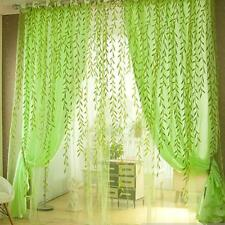 Pastoral Style Willow Floral Window Colorful Curtain Bedroom Living Room Decor
