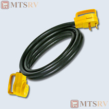 CAMCO RV 30A 25' Black Electric Extension Cord w/ Yellow Power-Grip Ends - 55191