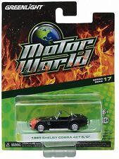 1:64 GreenLight *MOTOR WORLD R17* Black w/Flames 1965 Shelby Cobra 427 S/C *NIP*