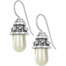NWT Brighton CHATHAM Crystal Pearl French Earrings MSRP $36