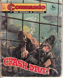COMMANDO COMIC - No 579   CRASH DIVE!