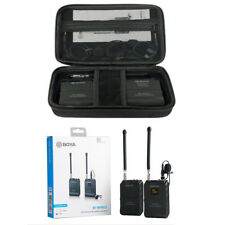 BOYA BY-WFM12 Professional VHF Wireless Microphone System for iPhone Canon DSLR