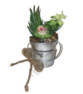 New Artificial Flowers Arrangements Succulent Planter Cactus Mini Centerpiece