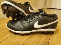 Nike Air Jordan 1 Retro MCS Low Black Baseball Cleats CJ8524-001 Men's Size 11