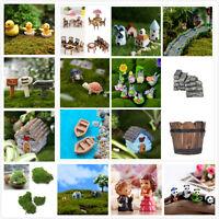 Fairy Garden Miniature Stone House Figurine Craft Micro Landscape Ornament HYF