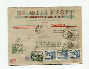 !!! WWII, SPAIN, 1941 COVER TO METZ (FRANCE OCCUPIED) WITH CENSORSHIPS