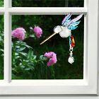 FANTASY GLASS HUMMINGBIRD -RAINBOW - SWAROVSKI CRYSTAL ACCENTS WOODSTOCK - CHRAI