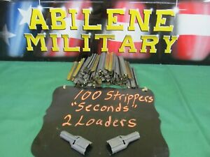 5.56 .223 STRIPPER CLIPS WITH SPOON CHARGER LOADER 100+ IN EACH BAG 2NDS