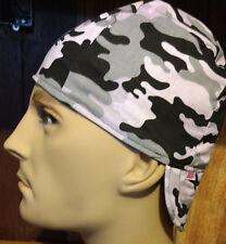 Gray Camo 100% cotton, Welding, Biker, pipefitter,4 panel hat