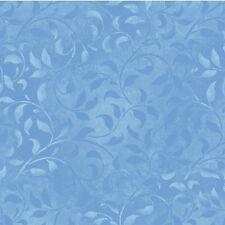 "Essentials Climbing Vine Light Medium Blue 108"" Wide Quilt Backing Fabric By Th"