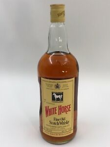 WHISKY WHITE HORSE FINE OLD SCOTCH WHISKY 70 PROOF 40 FL. OZ 1.2L AÑO 1977
