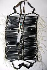 Native American Navajo 40 row Buffalo Bone Breast Plate BLACK LEGEND Breastplate