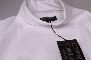 Catmandoo Roll Neck / Cotton Golf Base Layer Skin Plain White 8 ,10 ,14 ,16 New