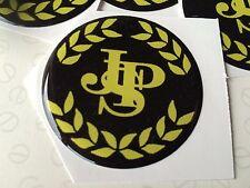 40MM JPS  LOTUS WHEEL CAP RESIN 3D  DOMED JOHN PLAYER SPECIAL BRAND NEW STICK ON