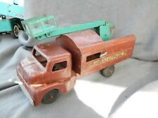 Vintage Pressed Steel Structo Tree Trimming Truck With Boom Estate Find