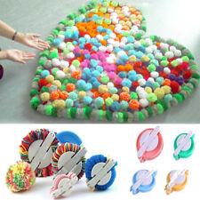 4 Size Pom pom Maker Fluff Ball Weaver Knitting Needle DIY Tool Set Bobble Craft