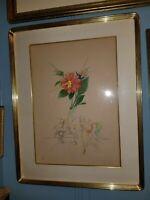 Salvador DALI Hand Signed Original Etching Unicorn Princess FlorDali Dahlia 1967