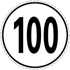 Geschwindigkeitsschild, 100 kmh, 20cm nach § 58StVZO Geschwindigkeitsaufkleber