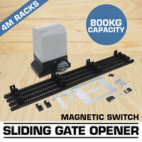 NEW Sliding Gate Opener 800KG Pro Automatic Remote Kit Electric Fence
