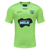 Canberra Raiders 2021 Training Tee Shirt Small - 5XL Envy/Navy NRL ISC In Stock