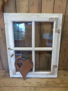 schönes Holzfenster Fenster mit Rahmen & Scheiben 68cm x 54cm Holz shabby alt