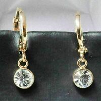 Sparkling Round Cubic Zirconia Earring Drop/Dangle Women Jewelry 14K Gold Plated