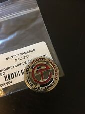 2017 Scotty Cameron GALLERY CIRCLE T Red Ball Marker CT tour FTUO Coin