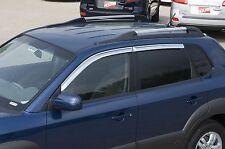 Chrome Trim Window Visors - Fits Hyundai Tucson 2005-2008 Set of 4 (Tape on)