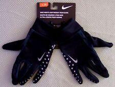 Nike adult $25 Lightweight Reflective Dri-Fit Running Gloves key pocket Black L