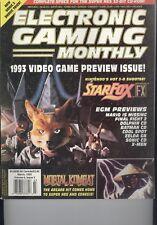 Electronic Gaming Monthly EGM March 1993 - #44 Mortal Kombat/StarfoxFX V 6 I 3