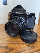 Pentax 67 MLU Late Model Camera /with SMC Pentax 105mm F/2.4 Lens Late Model
