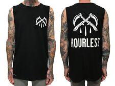 Hourless Sleeveless Tee (T-Shirt) Mens S M L XL XXL BLACK Afends RVCA Vans