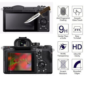 LCD Screen Protector Tempered Glass Shield Guard Film for SONY A6000 A6500 Hot