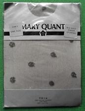 MARY QUANT GREY SPOTTY SHEER 100% NYLON STOCKINGS Vintage Sheer Stockings