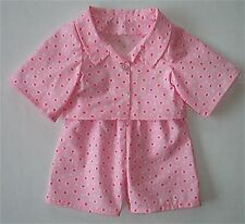 NEW TEDDY BEAR PINK FLORAL PYJAMAS FITS - 16inch / 40cm TALL - MADE IN ENGLAND