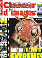 CHASSEUR D'IMAGES N° 221 . FUJI S1 PRO . MINOLTA AF 28 . AF 35 . AF 50 . CONTAX