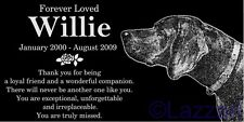 Personalized German Shorthaired Pointer Pet Memorial 12x6 Granite Grave Marker