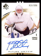 07 08 SP AUTHENTIC SPA 191 JONAS HILLER AUTOGRPH ROOKIE AUTO /999 FUTURE WATCH