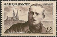 "FRANCE TIMBRE STAMP N°865 ""C. PEGUY ET CATHEDRALE DE CHARTRES"" NEUF XX TTB"