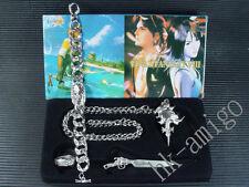 Final Fantasy VIII 8 FF8 Necklace Bracelet Ring Box Set