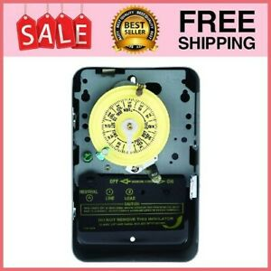 Swimming Pool Pump Timer Electric Mechanical Switch Control Metal Enclosure 120V