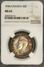 Canada 1946  50 Cents 50 C  NGC MS 63
