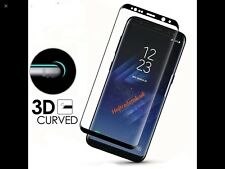 Full Curved 3D Tempered Glass Screen Protector Film Samsung Galaxy S8 Plus BLACK