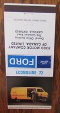 1972 FORD ECONOLINE CAR DEALER: OAKVILLE, ONTARIO -JL9