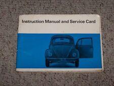 1967 Volkswagen VW Beetle 1200 1300 1500 Owner Operator Instruction Guide Manual