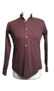 Ralph Lauren Men's Button Up Shirt Burgundy Color - Size XL
